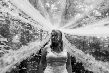 e-linehairfashion bruidskapsel en bruidsmake-up sluier