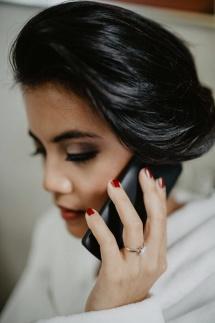 e-linehairfashion bruidskaspel en bruidsmake-up